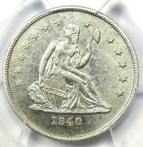 "1840-O Seated Liberty Quarter 25C - PCGS AU Details - Rare ""No Drapery"" Coin!"