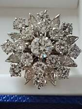 Gorgeous & Substantial 5.25 Carat Cubic Zirconia In 925 Real Silver Wedding Ring