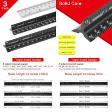 Architectural Scale Ruler Set 12 Inch Triangular Engineering Scale Rulers Laser