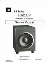 JBL  service manual  für ES 250 P powered subwoofer  Copy