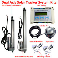 Complete Dual Axis Solar Tracking System-LCD PV Solar Panel Sunlight Tracker Kit