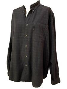 Columbia XL Mens Shirt Long Sleeve Button Up Sportswear Brown checkered fishing