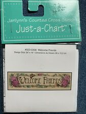 Welcome Friends - Janlynn Just-a-Chart Cross Stitch - NEW