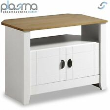 White Solid Oak Wooden TV Stand Entertainment Cabinet Living Room Furniture
