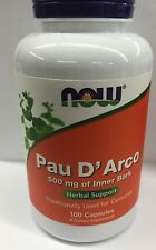 NOW Foods Pau D' Arco 500 mg of Inner Bark - 100 Caps FAST 1st Class SHIPPING