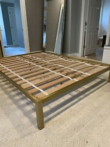 West Elm Brass Queen Bed Frame