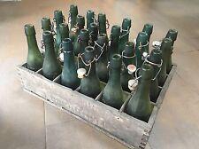 Alte Holzkiste, Getränkekiste, Roelandts Bierkasten mit 24 Bierflaschen