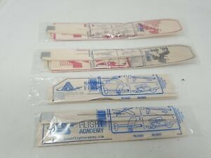 National flight academy wood glider model airplane collectible plane lot of 4 (u