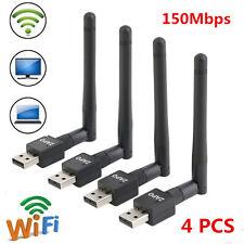 4PCS USB Wifi Wireless Network Card 802.11 n/g/b LAN Adapter + Antenna Computer
