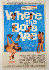 WHERE THE BOYS ARE - 1960 ORIGINAL MOVIE POSTER - YVETTE MIMIEUX - DELORES HART