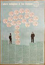 """MANIFESTO POSTER """" L'ALBERO MEDAGLIONE TINO STEFANONI"""" - Milano- 1968 -"""