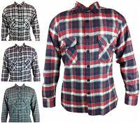 Mens Cotton Casual Shirt Size S- 5XL REGULAR FIT Long Sleeve Checked Lumberjack