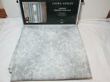 """Laura Ashley MADDOX Floral Paisley Grommet Window Panel Pair Two 38""""x84"""" NEW"""