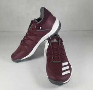 adidas Men's Speed Turf Trainer Baseball Shoes Cleats Maroon White G27683 Size 6