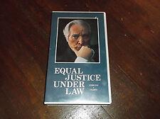 Equal Justice Under Law PBS TV GIBBONS v. OGDEN  VHS Tape Warren Burger