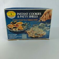 NORDIC WARE Cookie & Patty Rosette & Timbale Iron 8 Piece Recipe & Directions
