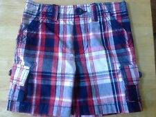 Boys Red, White & Blue Checked Shorts (12 months)