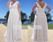 Custom Plus Size Lace Long Sleeves or Sleeveless Bridal Gown Wedding Dress