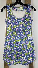 Boden women 2P sheath mini dress purple green sleeveless floral