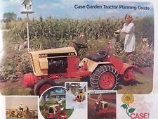 Case 446 444 224 220 118 644 646 Lawn Garden Tractor Color Sales Brochure 1975