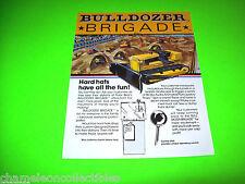 BULLDOZER BRIGADE By POLAR BEAR 1981 ORIGINAL REMOTE CONTROL BULL DOZER FLYER