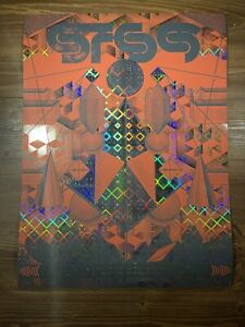 STS9 Art Show Poster FOIL By Justin Helton Signed AE XX/50 NYE Run 2017