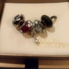 5pc ALL AUTHENTIC PANDORA MURANO BEADS DANGLE CHARM w/Kay Jewelers Box lotPA103