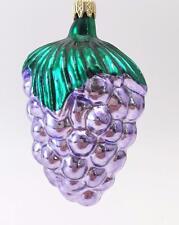 "Vintage Colombia Christmas Ornament ~ Light Purple Grape Cluster ~ 3 3/4"""
