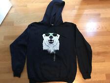 NEW Navy Blue Polar Bear in Sunglasses Hoodie Sweatshirt (Adult M)