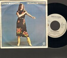 "EMMYLOU HARRIS Mister Sandman SINGLE 7"" Ashes By Now 1981"