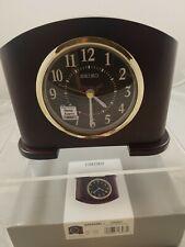 """Seiko Alarm Desk Clock Wood Case QXE045BL  5"""" X 6.5""""  NEW in Box"""