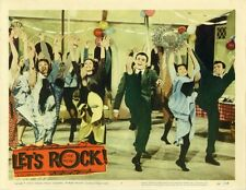 """""""LET'S ROCK"""" Affiche U.S. entoilée (Harry FOSTER / Julius LaROSA,Phyllis NEWMAN)"""