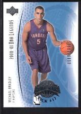 MICHAEL BRADLEY 2001/02 UPPER DECK LEGENDS #116 RC ROOKIE RAPTORS SP #0689/1999
