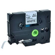 1PC Schriftband für Brother Schwarz auf Weiß TZe-211 TZe211 6mm PT-P700 P750W