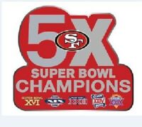 SUPER BOWL STICKER 49ERS 5X CHAMPIONS SAN FRANCISCO S.F. NFL SUPERBOWL CHAMPS