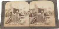 .USA 1906, SAN FRANCISCO HOMELESS SHELTERS, 8198 UNDERWOOD STEREOVIEW CARD.