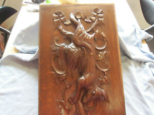 ANTIQUES BLACK FOREST HUNTING PANEL