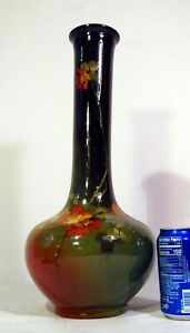"Large FINE Vintage Weller Louwelsa Art Pottery Vase 18"" Signed Madge Hurst"