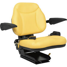 John Deere Big Boy Seat; w/ Armrests, Aftermarket Yellow #A-BBS108YL