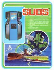 Atari SUBS Original 1979 NOS Classic Retro Video Arcade Game Promo Sales Flyer