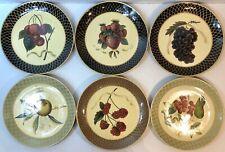 Set of 6 Raymond Waites - Art Deco Plates Depicting Fruit