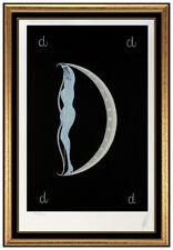 Erte Letter D Alphabet Original Color Serigraph Hand Signed Art Deco Tirtoff SBO