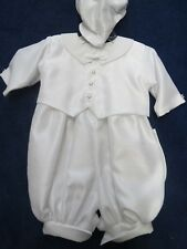 Lito 3 piece boys size 6 months white christening set, new w/tags