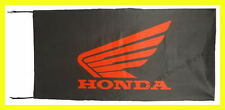 HONDA MOTOS FLAG BANNER  BLACK gold wing st1300 super hawk 5 X 2.45 FT 150 X 75