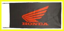 HONDA MOTOS FLAG BANNER  BLACK gold wing st1300 super hawk 5 X 2.45 FT 150 X 75