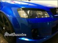 NEW VE HSV/COMMODORE HEAD LIGHT EYELIDS/EYEBROWS SERIES 1&2 CLUBSPORT/S/SS/SV6..