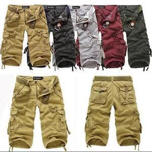 Stylish Fashion Mens Casual Pants Baggy Shorts Cargo Short Capri Trousers Pants