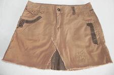 New MUR MUR Cargo Premium Series Mini Skirt SizeL Patching Studs Tan/Brown