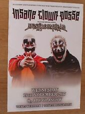 Insane Clown Posse + Mushroomhead - Glasgow tour concert gig poster