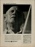 1956 Columbia Records Dimitri Mitropoulos Sound of Genius Vintage Print Ad 3091